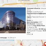 Полезные ссылки – карта размещения объектов коммерческой недвижимости
