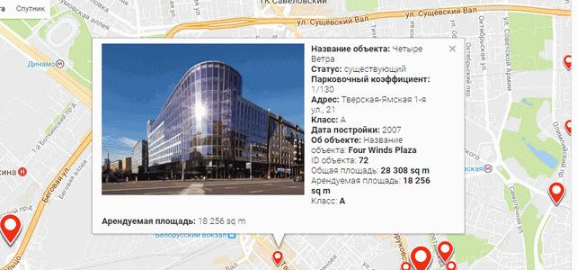 Полезные ссылки — карта размещения объектов коммерческой недвижимости